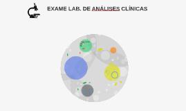 EXAME LAB. DE ANÁLISES CLÍNICAS