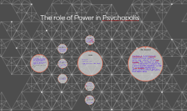 The role of Power in Psychopolis