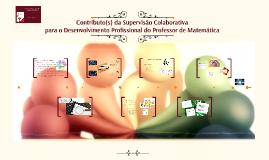 ProfMat Contributo(s) da Supervisão Colaborativa