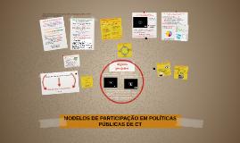 MODELOS DE PARTICIPAÇÃO EM POLÍTICAS PÚBLICAS DE CT_2015.1