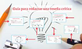 Guía para redactar una reseña crítica