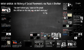 New media 10 - History of music & civil movements