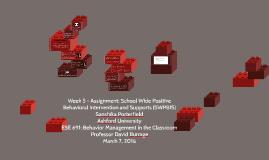 Week 4 – Assignment: Functional Behavior Assessment