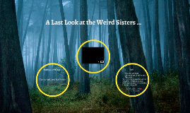 A Last Look at the Weird Sisters ...