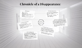 Copy of Chronicle of a Disappearance