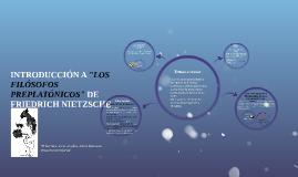 "INTRODUCCIÓN A ""LOS FILÓSOFOS PREPLATÓNICOS"" DE FRIEDRICH NI"