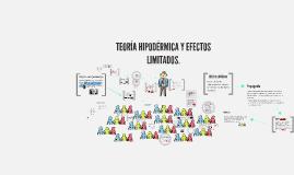 TEORÍA HIPODÉRMICA Y EFECTOS LIMITADOS.