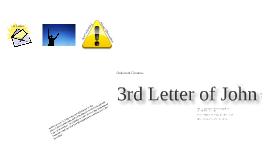 3rd Letter of John