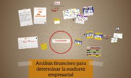 Análisis financiero para determinar la madurez empresarial