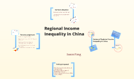 Copy of Regional income inequality in China
