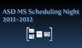 Scheduling Night 2011