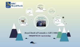 Royal Bank of Canada v. Gill (1988)