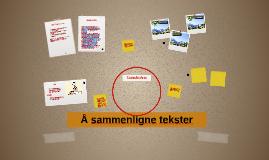 Copy of Å sammenligne tekster