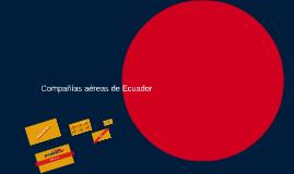 Compañías aéreas de Ecuador