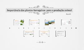 Importância das plantas forrageiras  para a produção animal