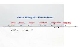 Control bibliográfico en la línea de tiempo
