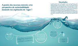 Copy of A gestão dos recursos naturais: uma perspectiva de sustentab