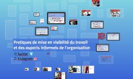 Visualisation et visibilité du travail sur Instagram: regard sur les aspects informels de l'organisation