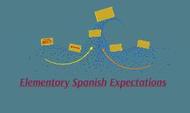 Elementary Spanish Expectations