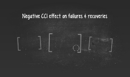 Negative CCI effect on failures & recoveries