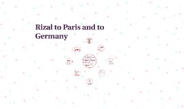 Rizal to Paris and to Germany