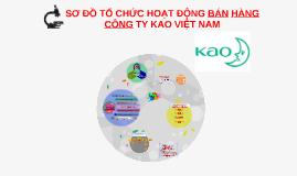 Sơ đồ tổ chức bán hàng công ty Kao Việt Nam