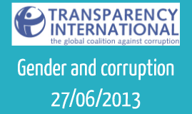 Gender and corruption V1