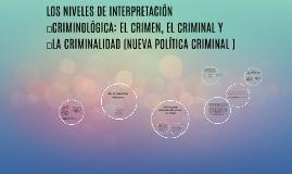Copy of LOS NIVELES DE INTERPRETACIÓN CRIMINOLÓGICA: EL CRIMEN, EL