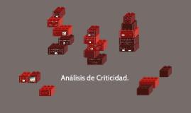 Análisis de Criticidad.