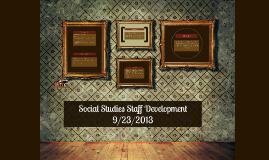 Social Studies Staff Development
