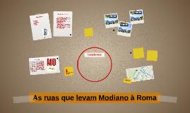 As ruas que levam Modiano à Roma