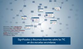 Significados y discursos docentes sobre las TIC