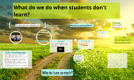 Chapter 4 - What do we do when students don't learn?