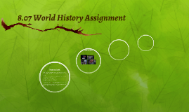 8.07 World History Assignment