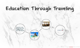 Education Through Traveling