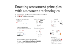 Enacting assessment principles with assessment technologies