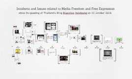 Media freedom and free expression in TH (Since the passing of HM the King)