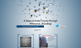 8 Steps to boost your career through #Personal_Branding!