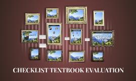 CHECKLIST TEXTBOOK EVALUATION