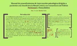 Manual de procedimientos de intervención psicológica dirigid
