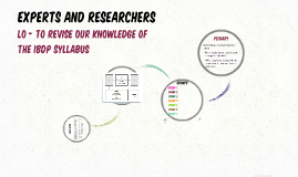 Experts and Researchers