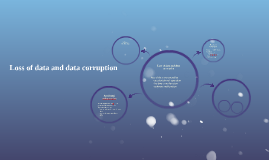 Loss of data and data corruption