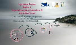 Requerimientos para el laboratorio de informática forense