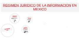 Copy of Copy of REGIMEN JURIDICO DE LA INFORMACION EN MEXICO