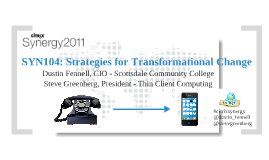 Strategies for Transformational Change