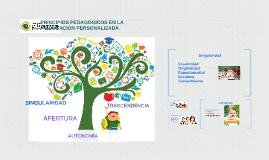 PRINCIPIOS DE LA EDUCACIÓN PERSONALIZADA
