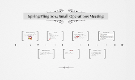 Spring Fling 2014 Small Operations Meeting
