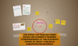 THE EFFECT OF ENGLISH COMIC BOOKS ON STUDENTS' READING