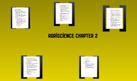 Agriscience Chapter 2 Notes