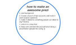 how to make an awesome prezi